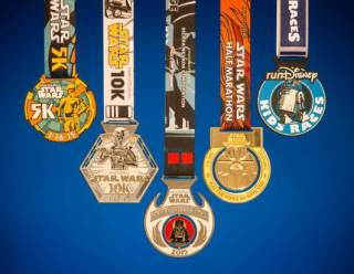 2015 Star Wars Half Marathon Weekend Medals