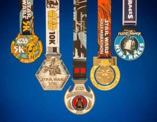 2015 Star Wars Half Marathon Weekend Medals