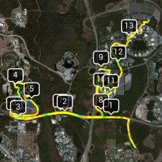 Last year's half marathon route